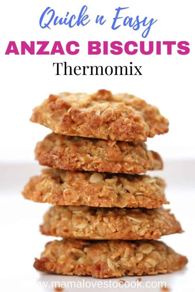 Thermomix Anzac biscuits Pinterest pin