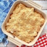 Thermomix Apple Crumble in baking dish