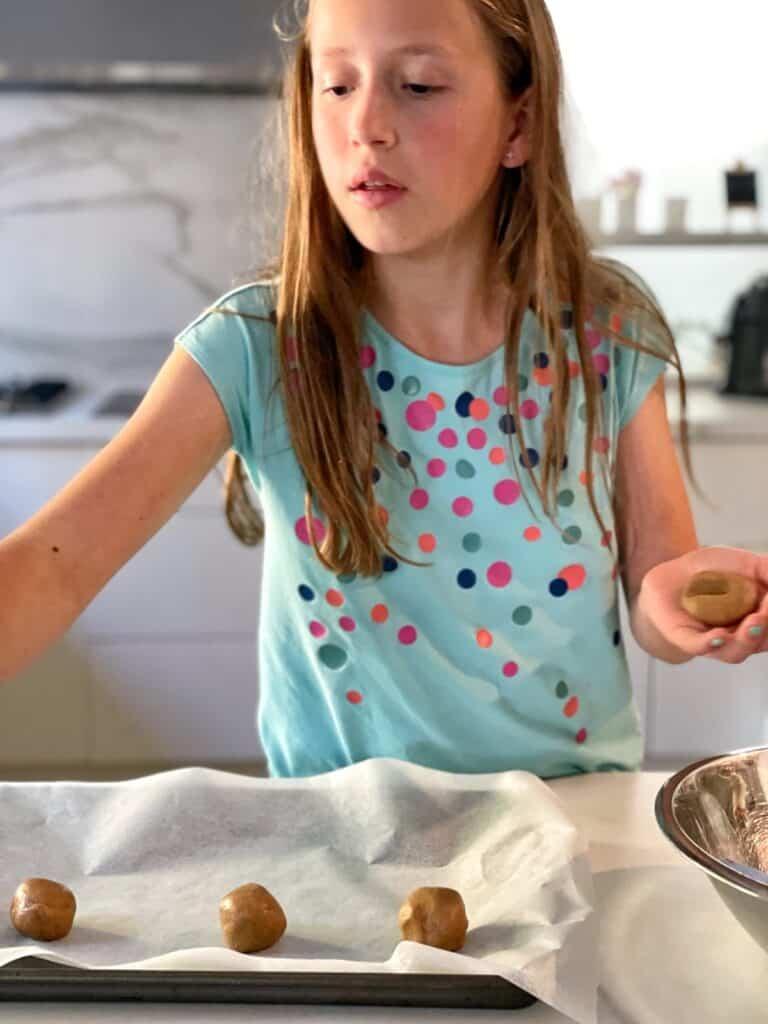 Making Nutella cookies
