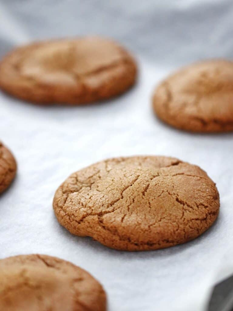 Thermomix Nutella Cookies fresh from oven on baking tray