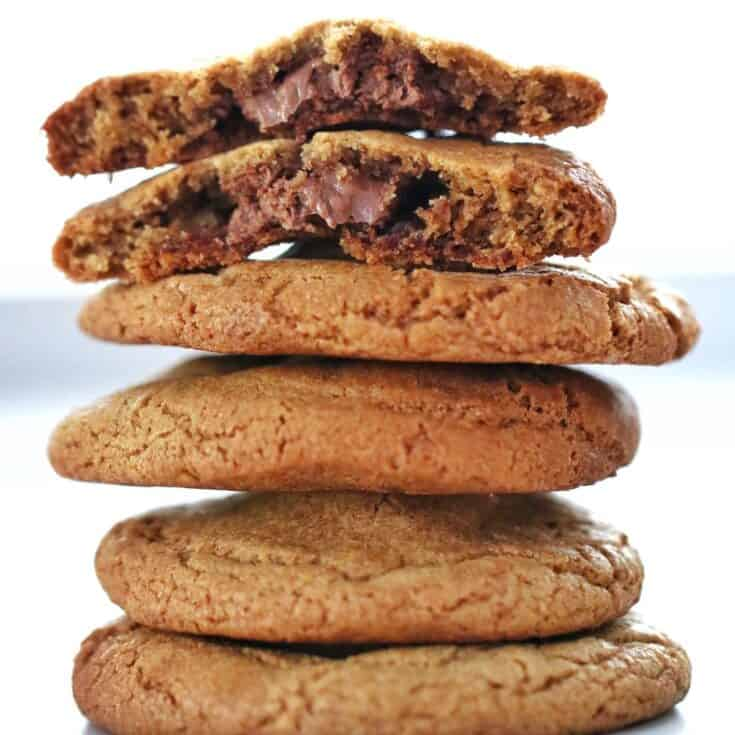 Stack of Thermomix Nutella Cookies