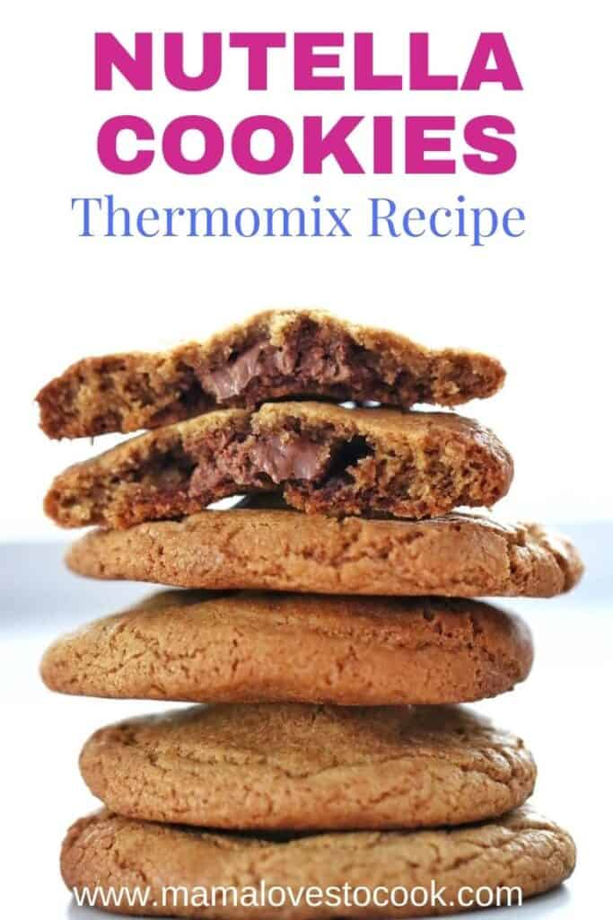 Thermomix Nutella cookies pinterest pin