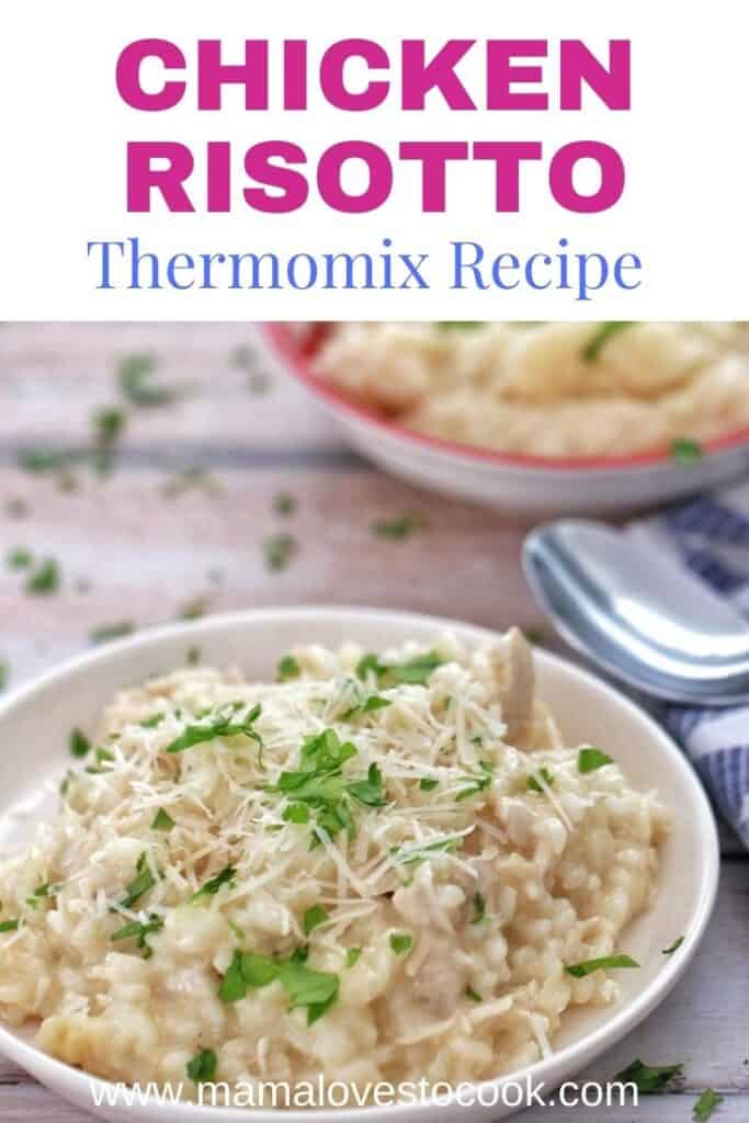 Thermomix Chicken Risotto pinterest pin