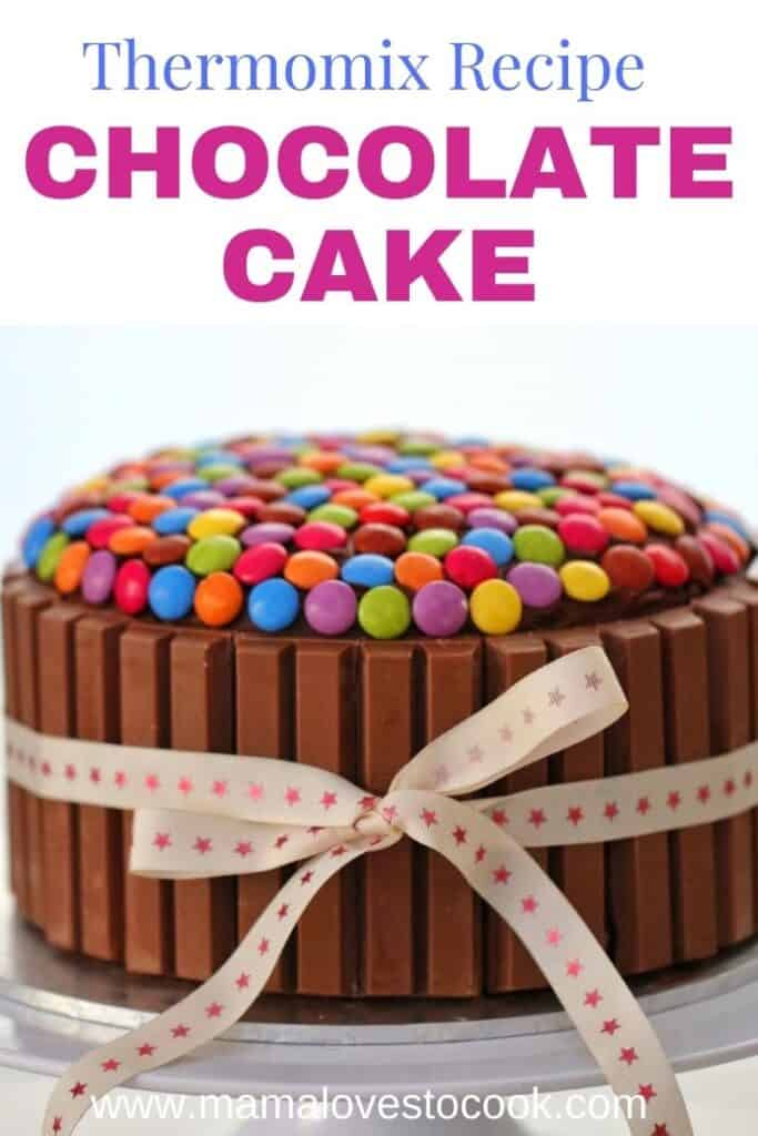 Thermomix Chocolate Cake pinterest pin