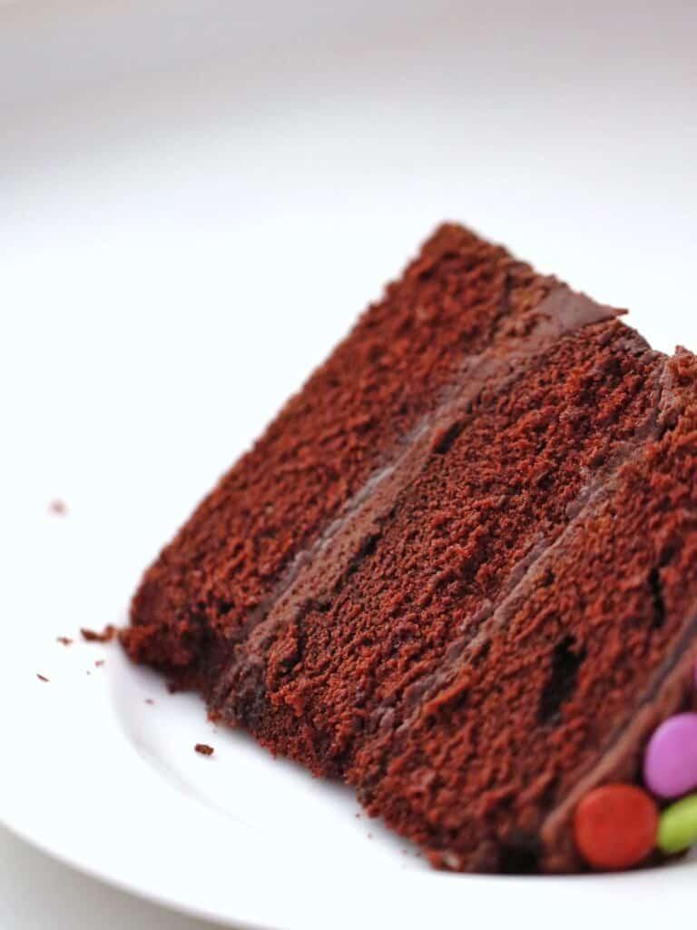 Slice of Thermomix Chocolate Cake