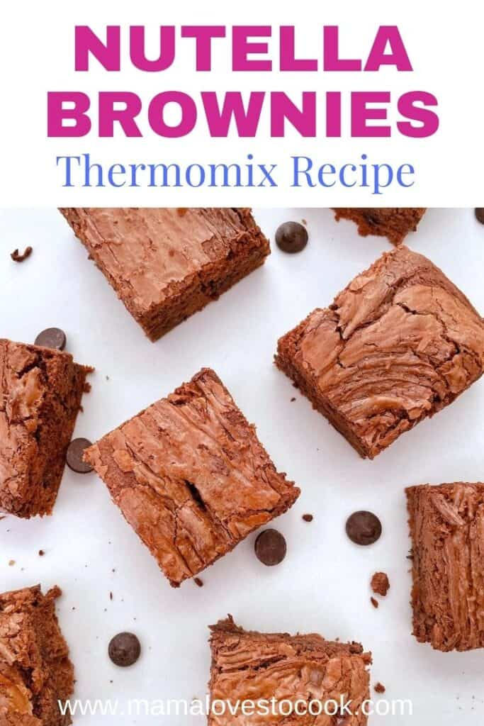 Thermomix Nutella Brownies Pinterest pin