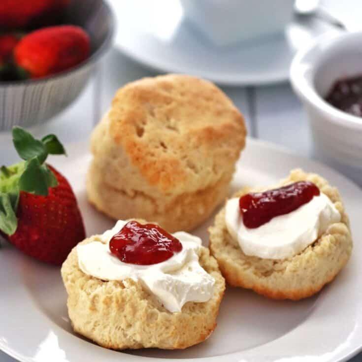 Thermomix scones with jam and cream