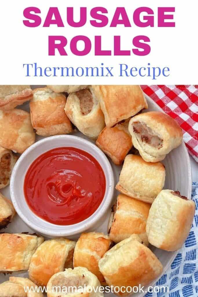 Thermomix Sausage Rolls Pinterest pin