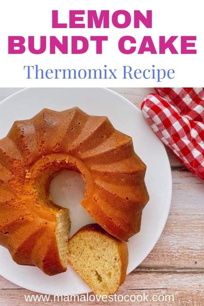 Thermomix Lemon Bundt Cake pinterest pin