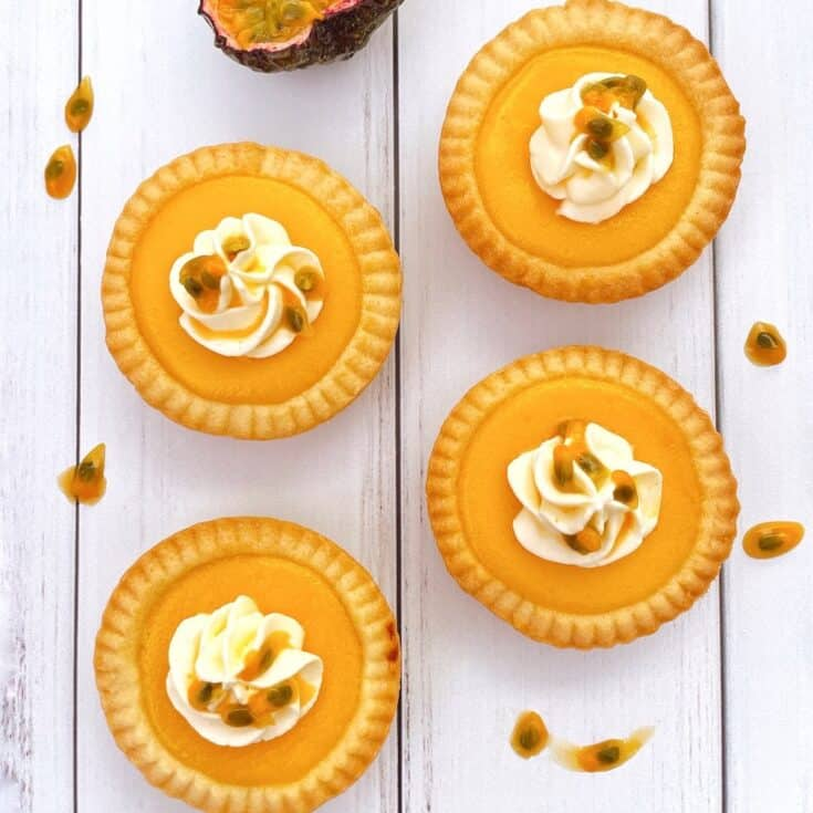 Thermomix Passion fruit tarts