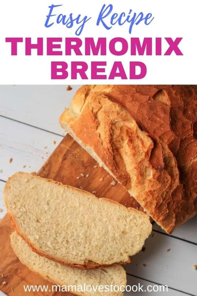 Easy Thermomix Bread Recipe pinterest pin
