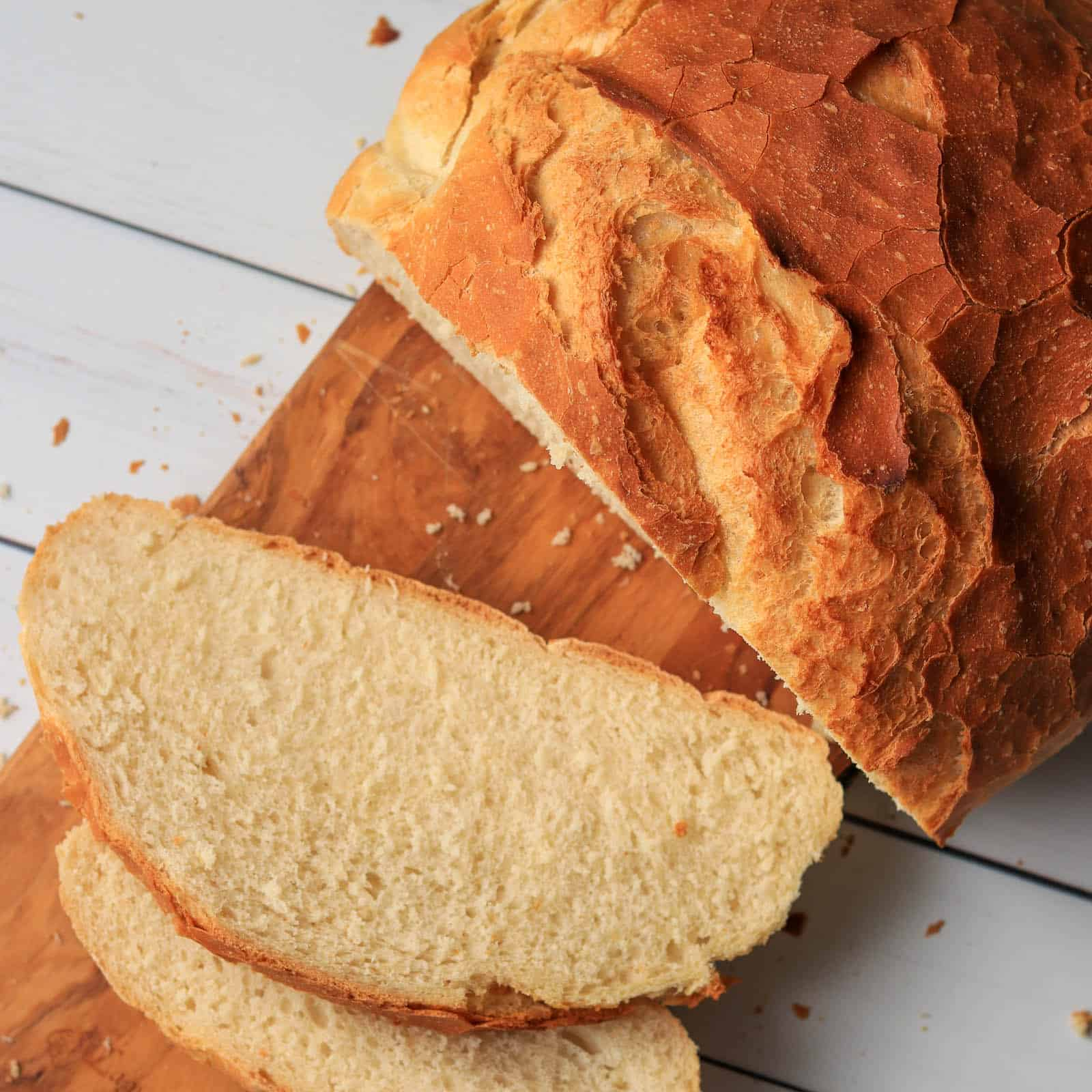 Sliced Thermomix bread from above