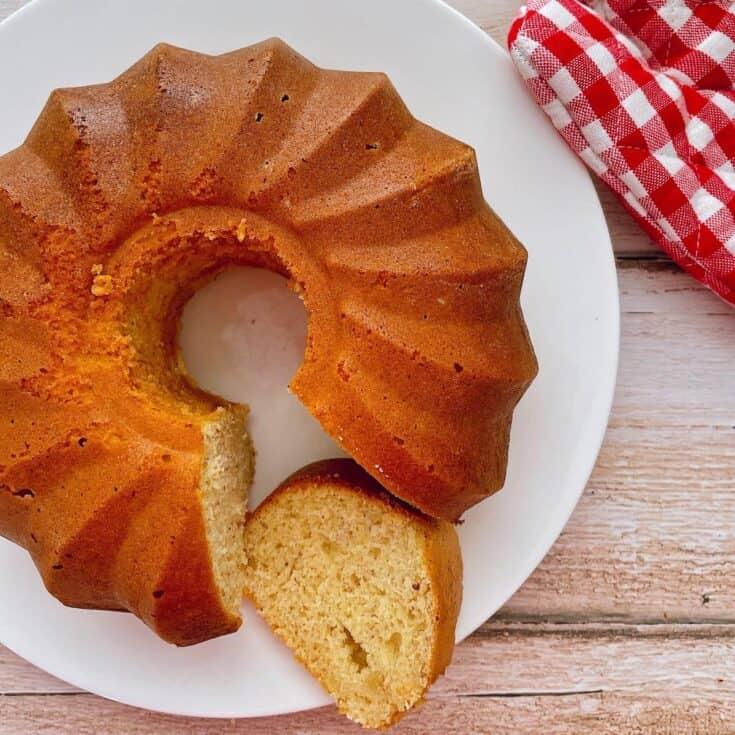 Thermomix Lemon Bundt Cake on plate