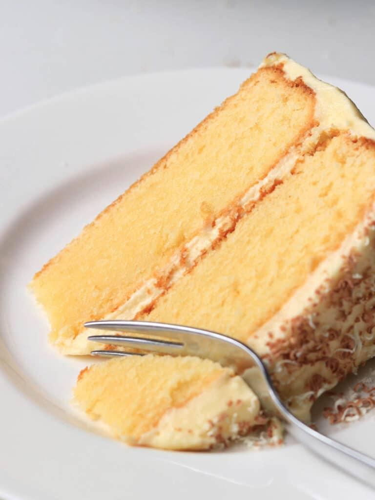 Slice of Thermomix White Chocolate Mud Cake
