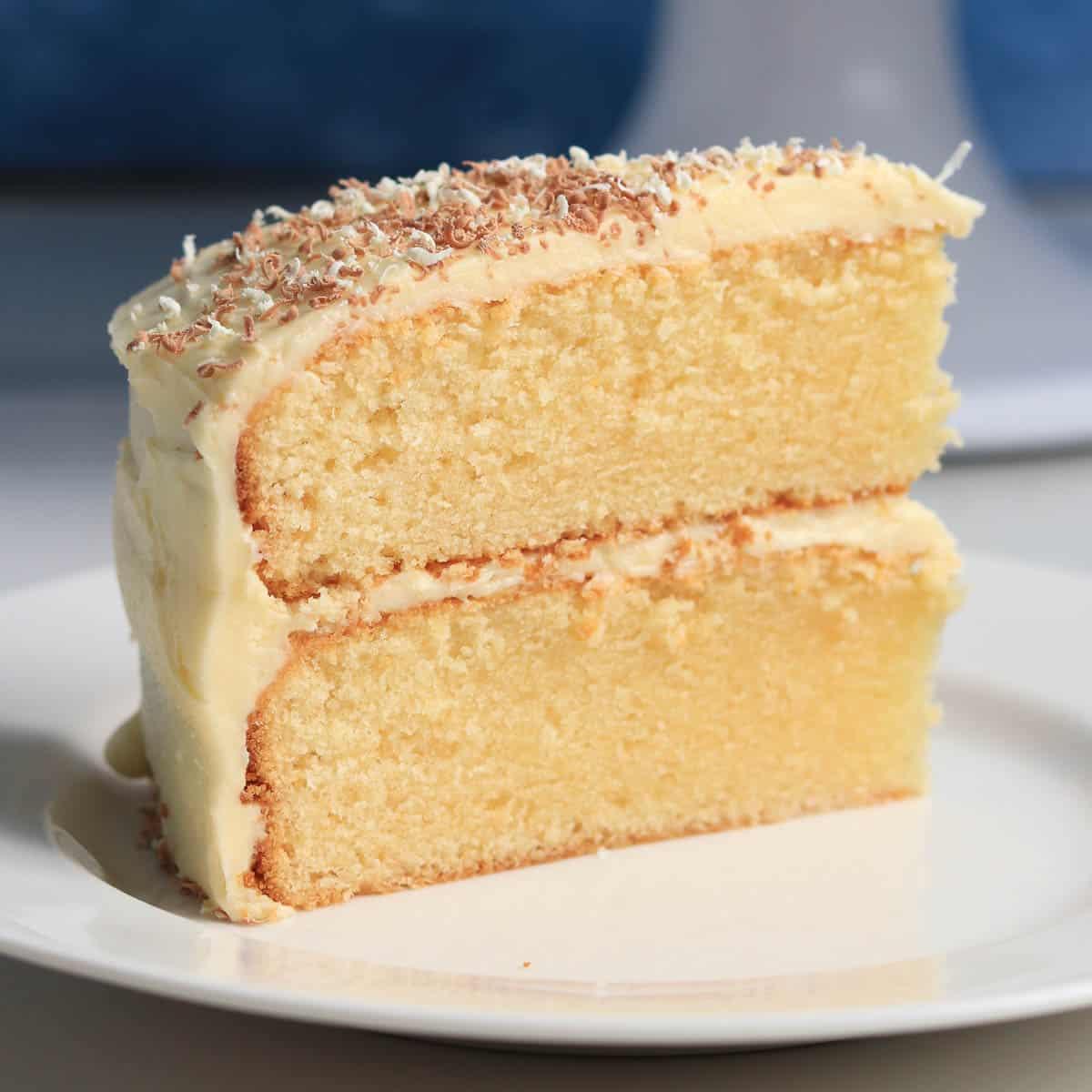 Thermomix white chocolate cake slice
