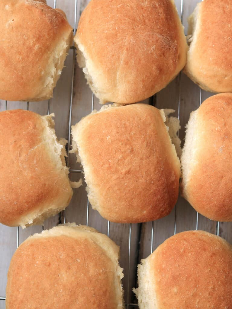 Bread rolls thermomix on cooling rack