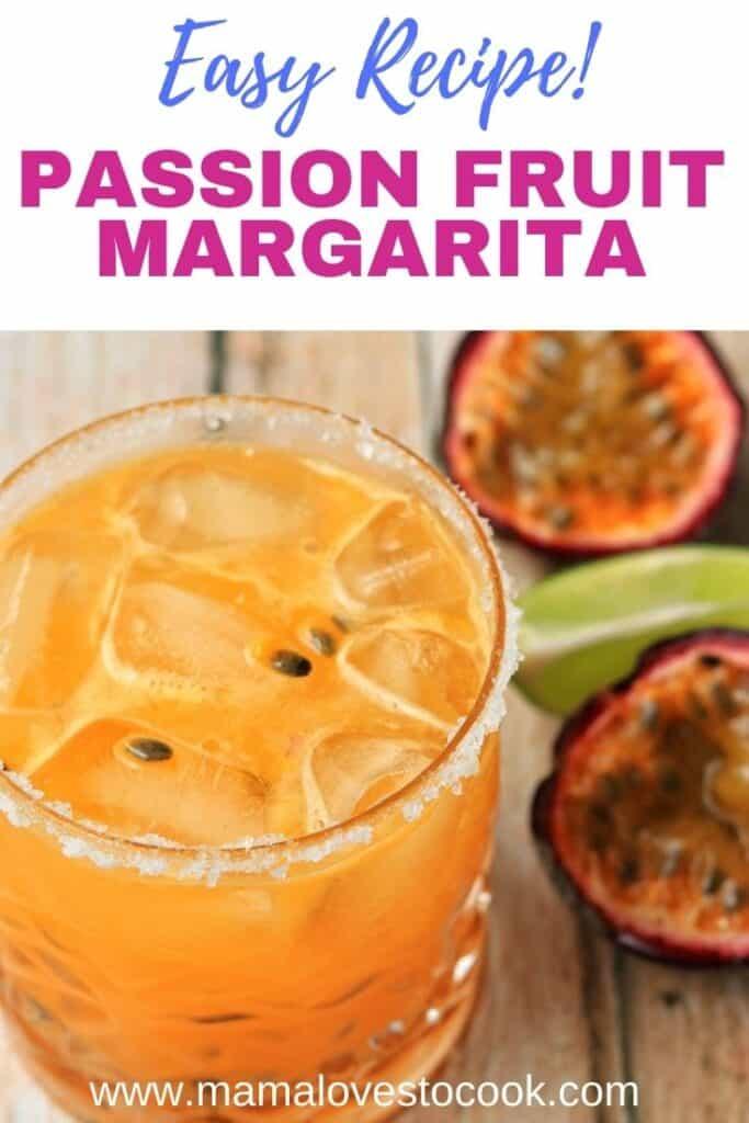 Passion fruit margarita pinterest pin