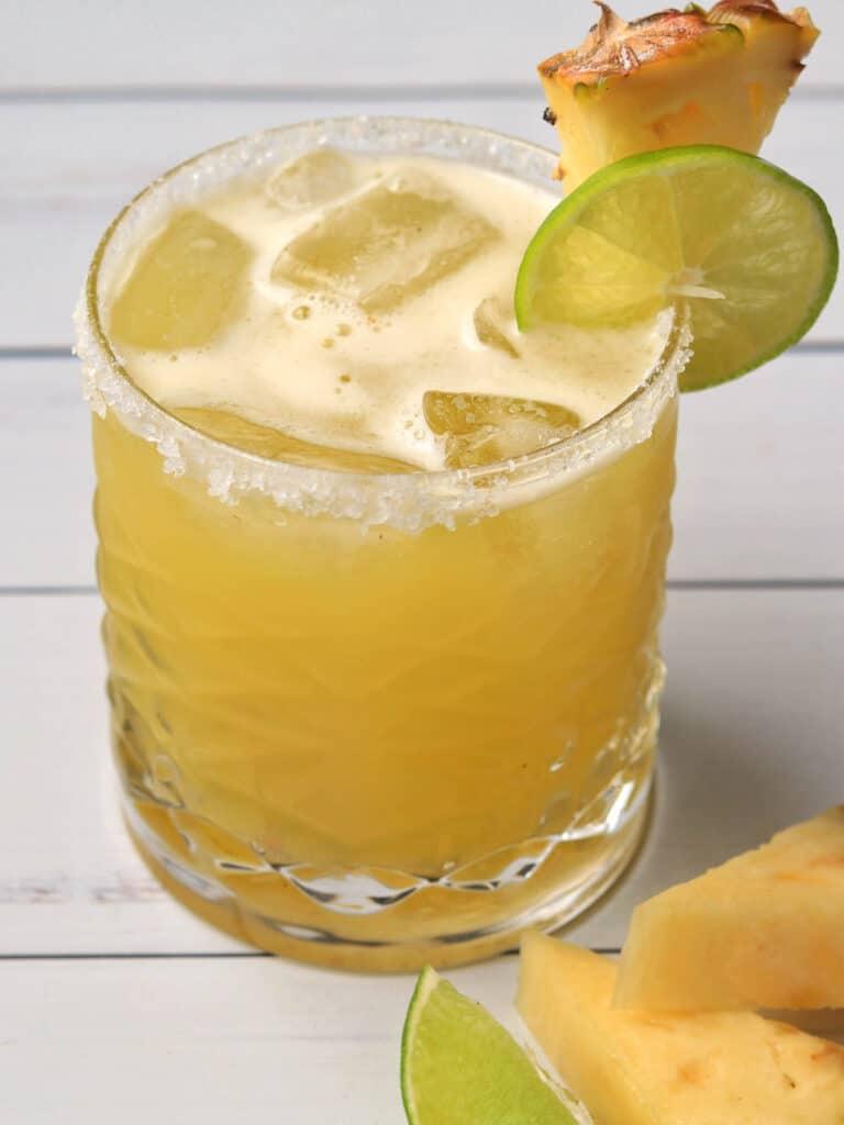 Pineapple Margarita on white table