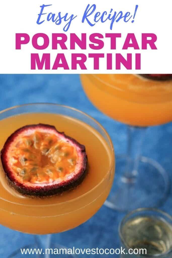 Pornstar Martini Cocktail pinterest pin
