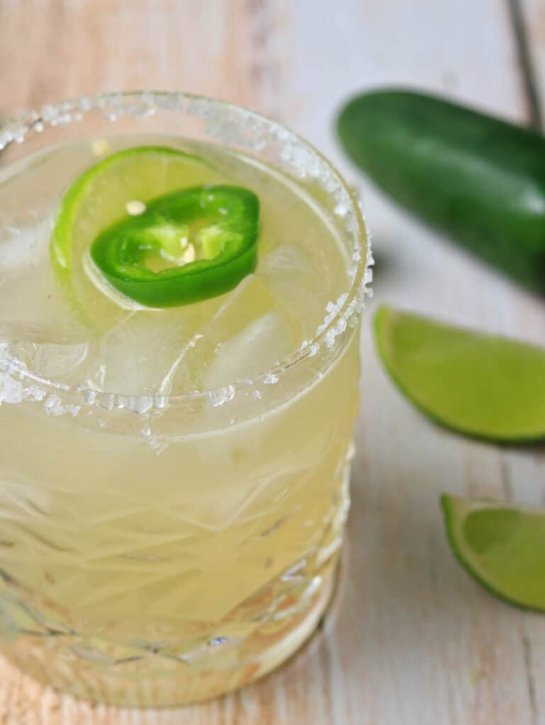 Close up of a spicy margarita