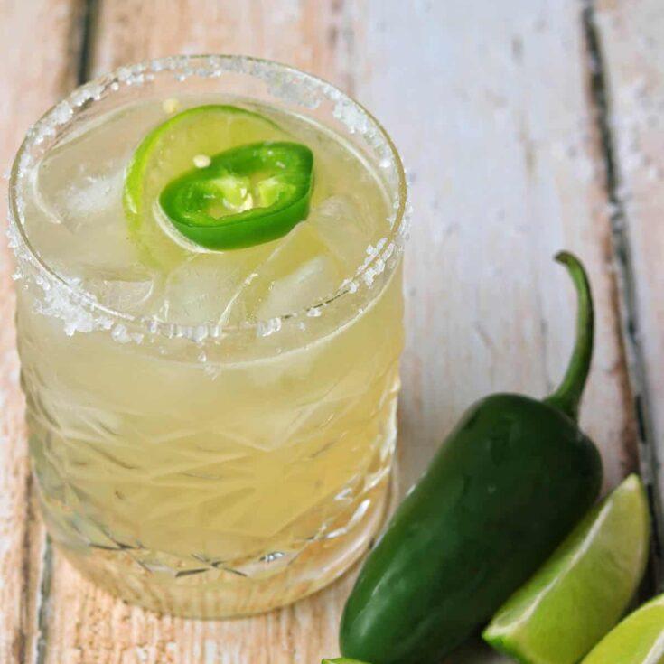 Spicy Margarita in a glass
